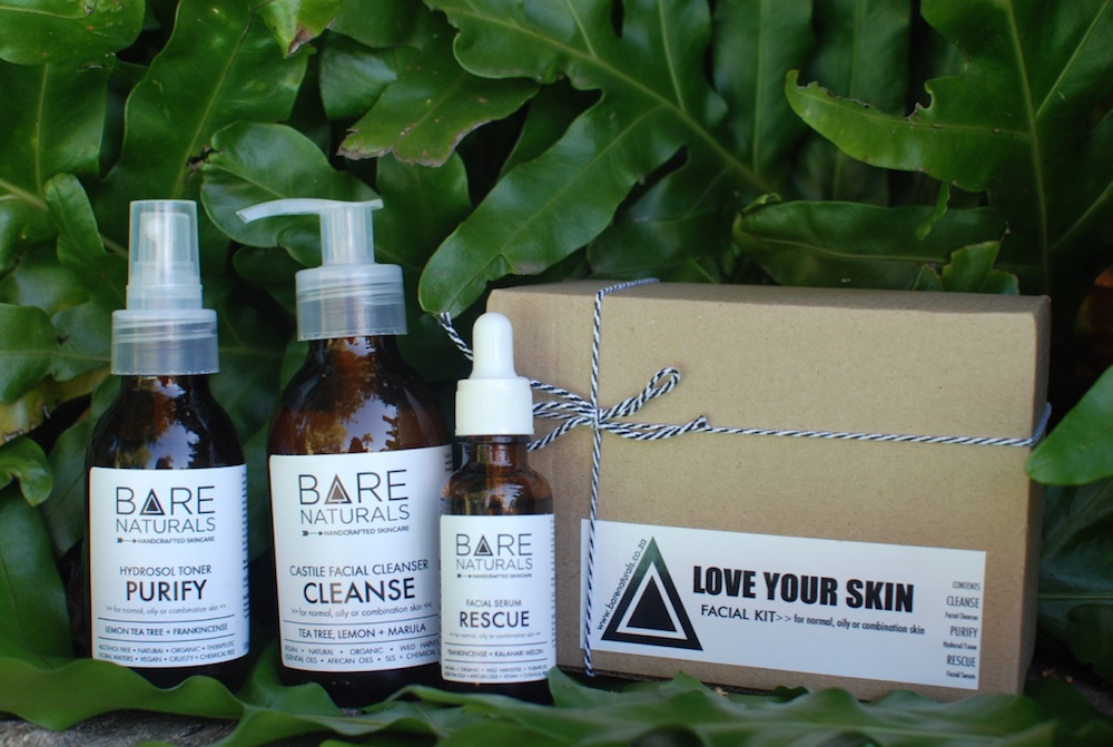 Using BARE NATURALS skincare